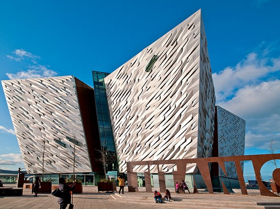 Image  irlande belfast musee titanic