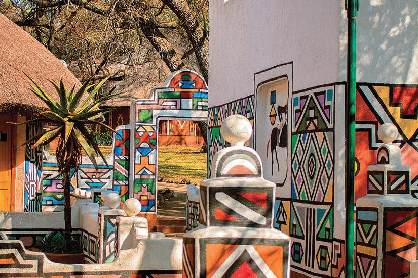 image Afrique du Sud Ndebele Village africain  fo
