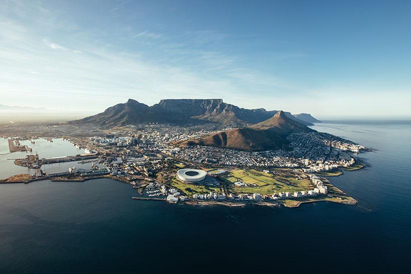 image Afrique du sud Cape Town vue aerienne  fo