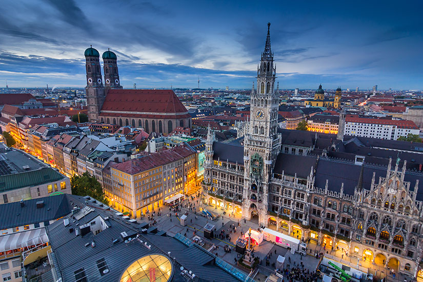 image Allemagne Munich soir  it