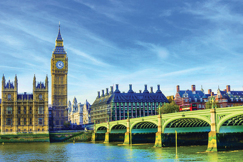 image Angleterre Londres Westminster Bridge Chambres du Parlement Riviere Thames  fo