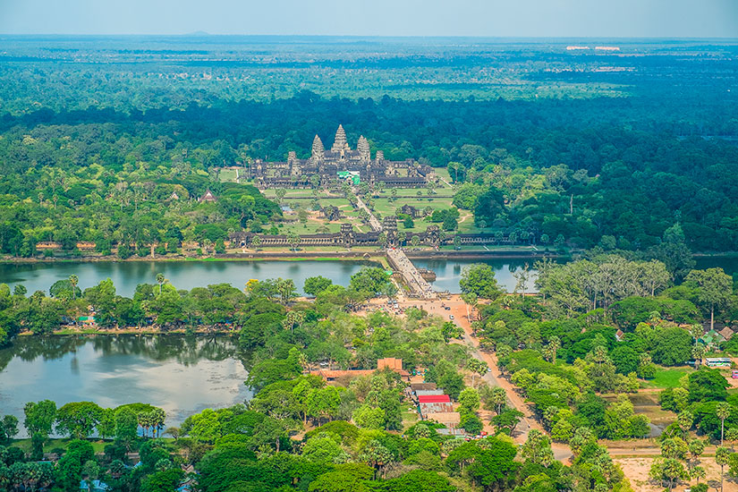 image Cambodge Angkor Wat vue aerienne  fo