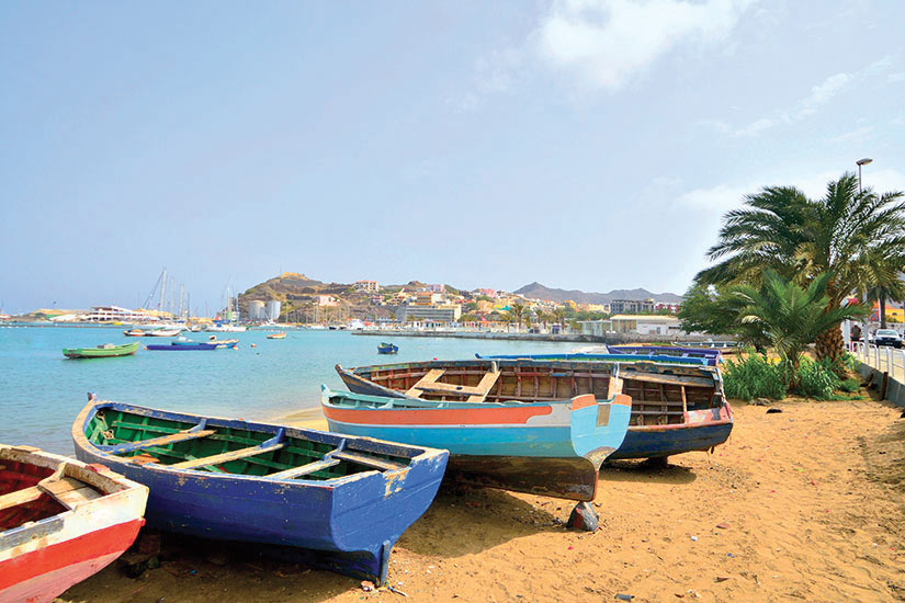 image Cap Vert Ile Sao Vicente Mindelo Animal echoue Rowboats  it