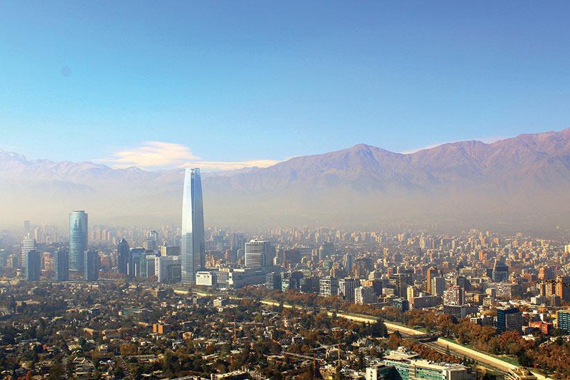 image Chili Santiago Vue du Cerro San Cristobal  it