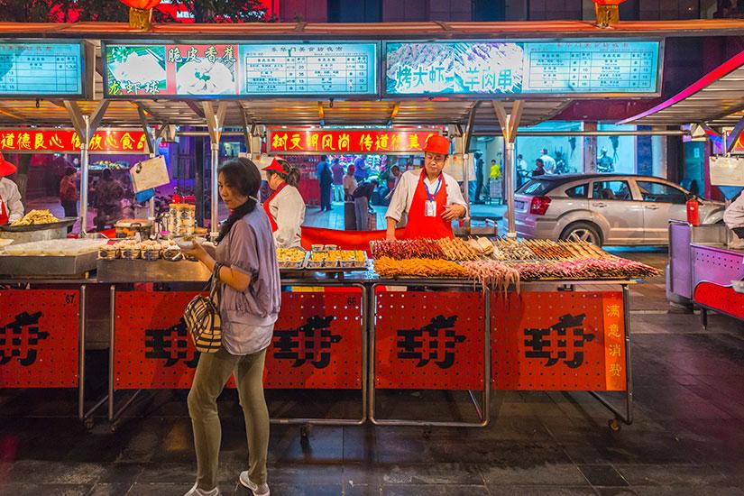 image Chine Beijing cuisiniers marche nuit  it