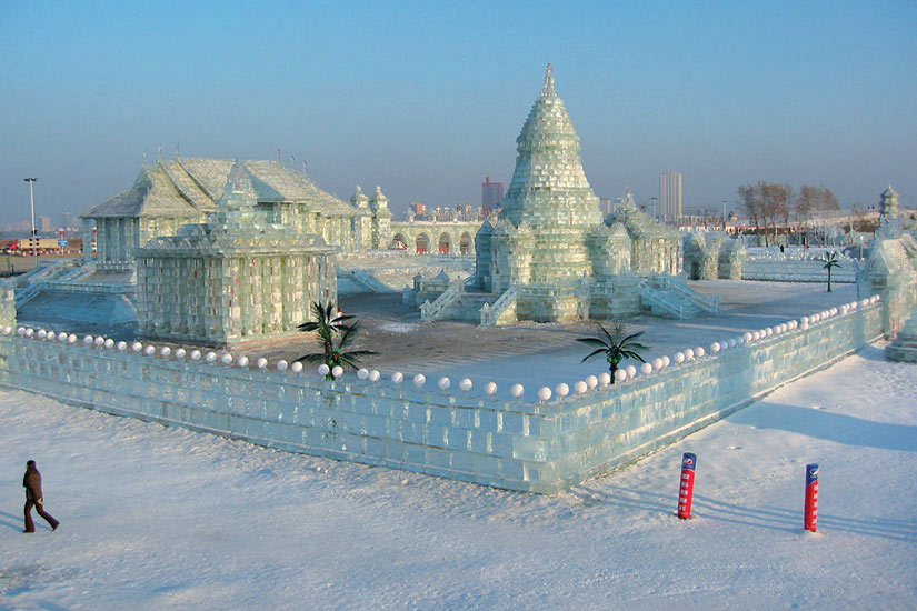 image Chine Harbin sculpture de glace  fo