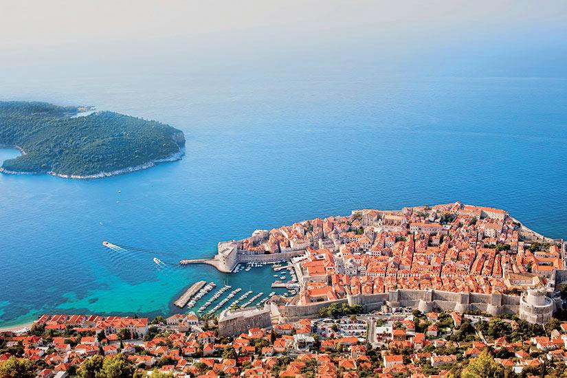 image Croatie Dubrovnik Vue aerienne  it