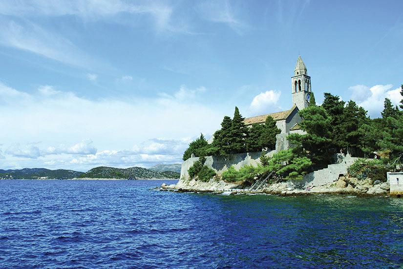 image Croatie Ile Elaphites Chapelle Panorama  fo