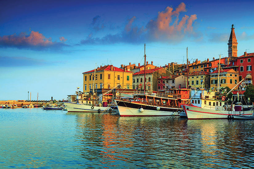 image Croatie Istrie Rovinj harbor  it