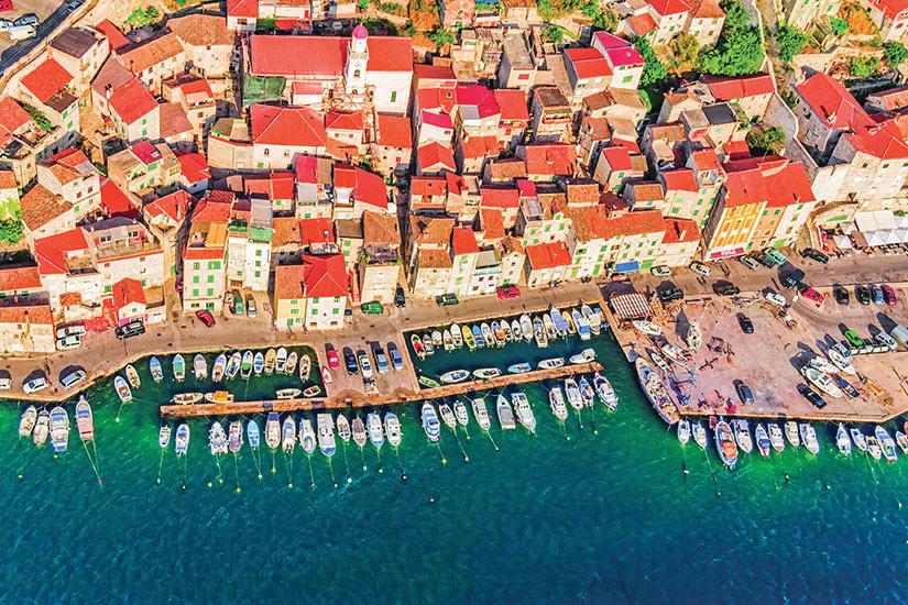 image Croatie Sibenik Vue aerienne  fo