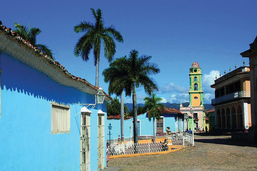 image Cuba Trinidad Maison bleue  fo