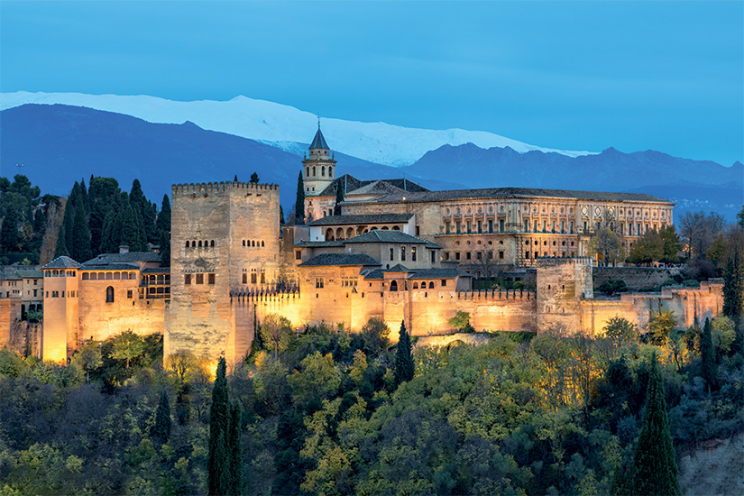image Espagne Grenade Forteresse illuminee de l Alhambra 32 fo_129338839