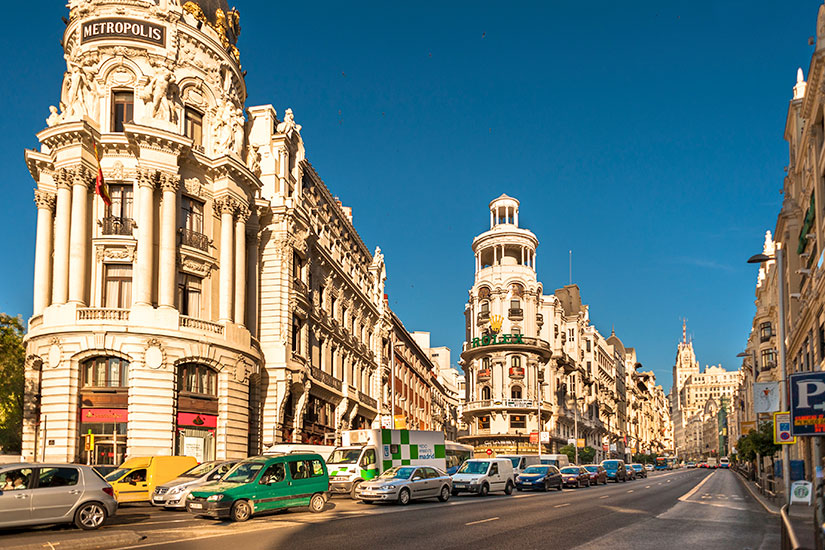 image Espagne Madrid Calle Gran Via  it