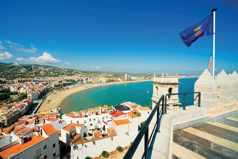 image Espagne Peniscola Valence vue de la ville  fo
