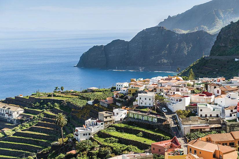 image Espagne Tenerife Village plage panorama  it