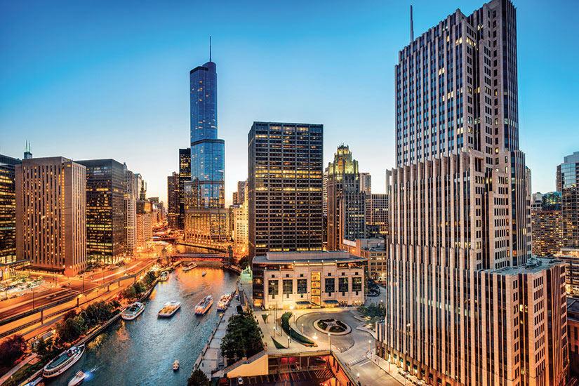 image Etats Unis Chicago Illinois vue aerienne  it