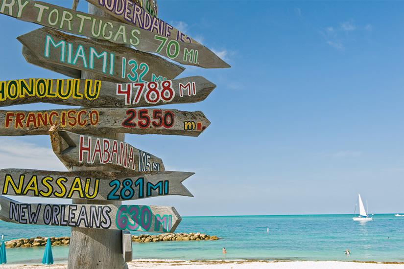 image Etats Unis Floride Key West poteau sur la plage 01 as_14763784