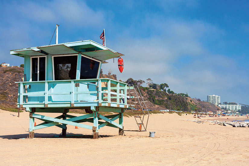 image Etats Unis Los angeles Santa Monica plage  it