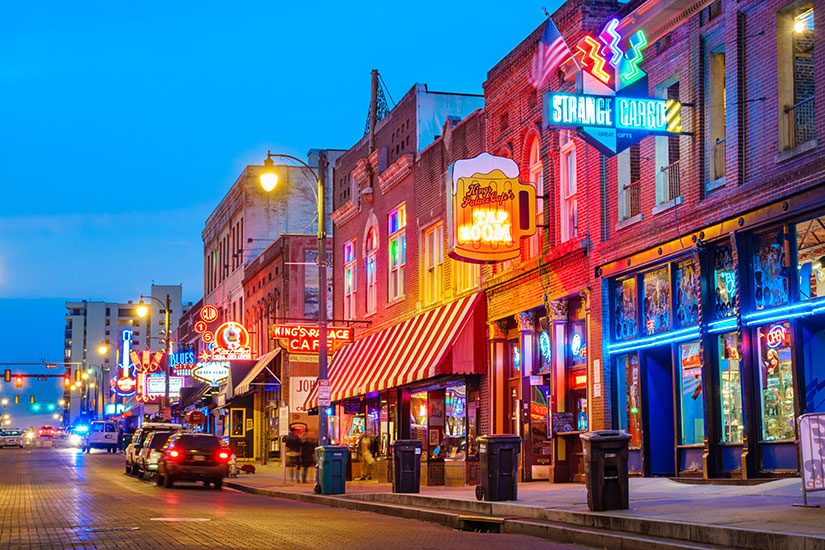 image Etats Unis Memphis Beale Rue Musique District  it