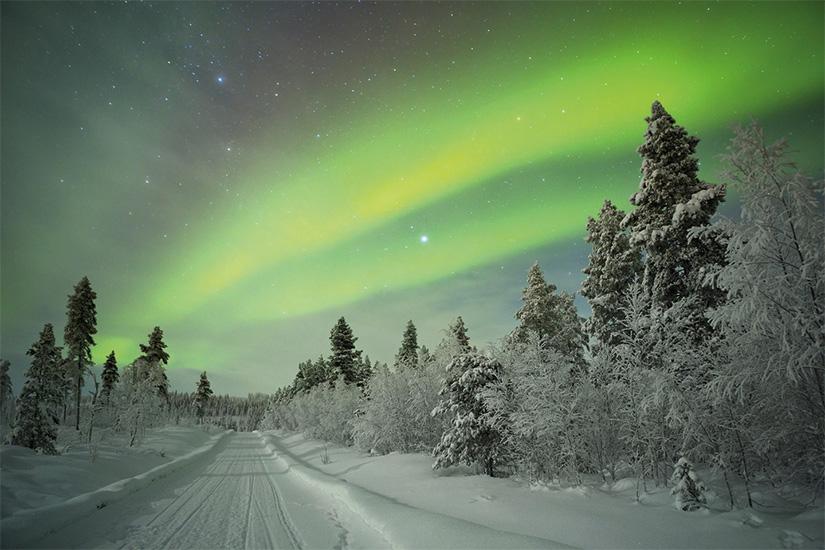 image Finlande Laponie aurores boreales paysage hivernal 16 fo_90472111