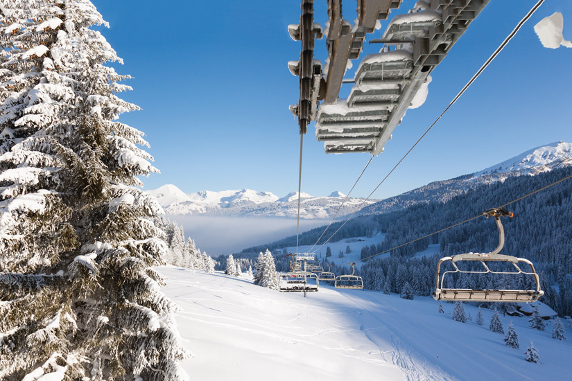 image France morzine les alpes montagne ski hiver sapin piste vallon chaise 15 as_79306391