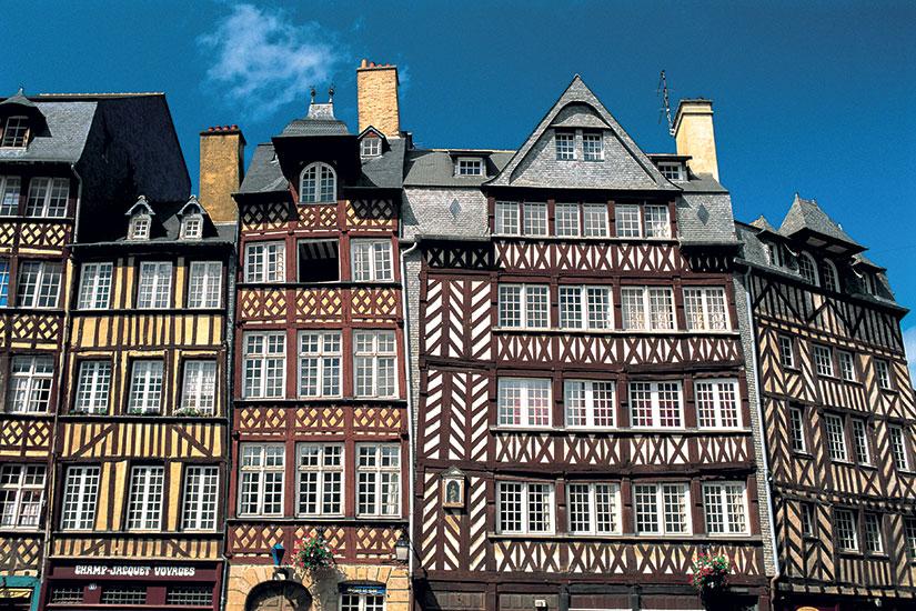 image France rennes maisons a pans de bois