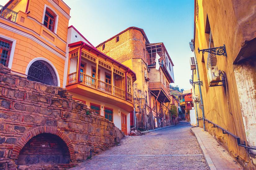 image Gerogie tbilissi caucase vieux quartier ville rue 16 fo_164598563