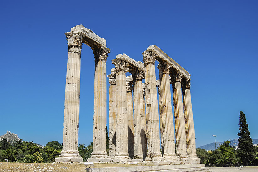 image Grece Athenes Temple Zeus Olympien  it