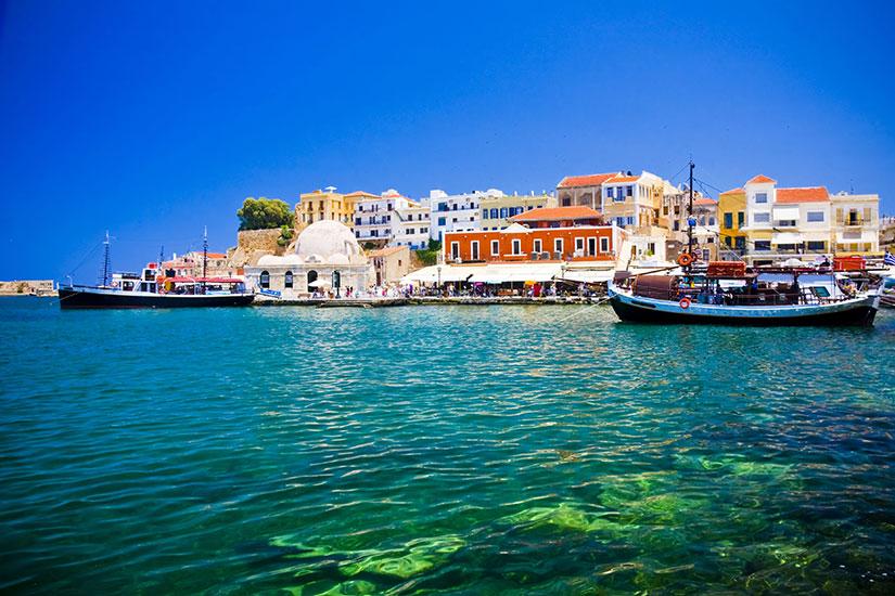 image Grece Crete Port rues Canee  fo