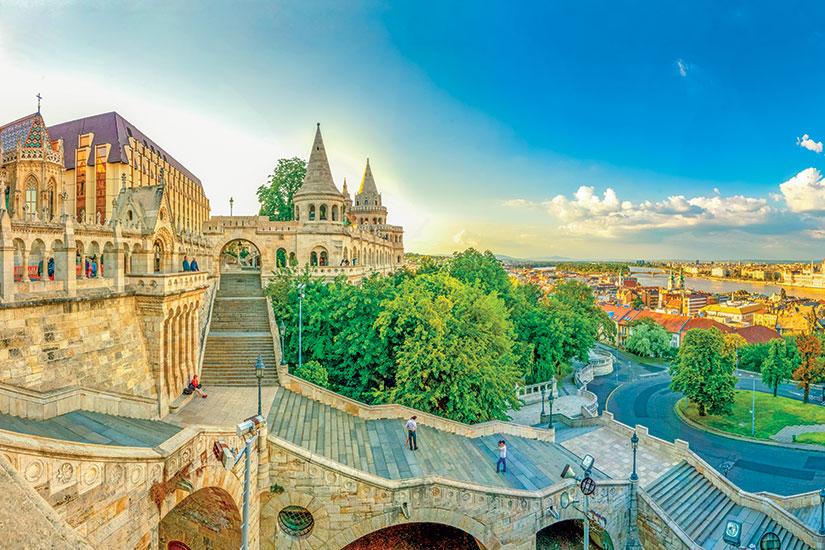 image Hongrie budapest escalier