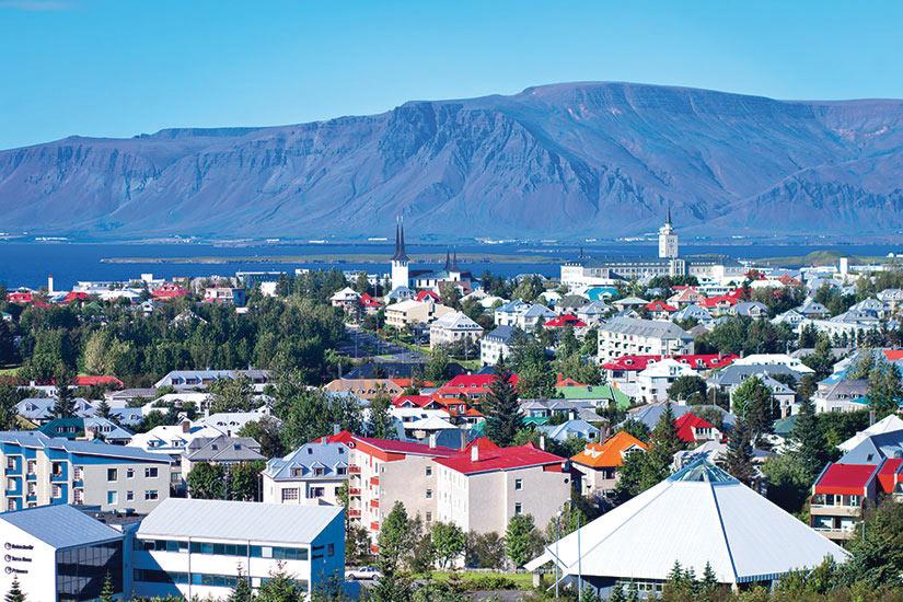 image Islande Reykjavik Vue aerienne  fo
