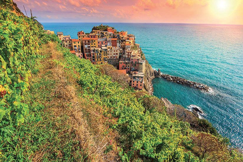image Italie Cinq Terres coucher de soleil  it