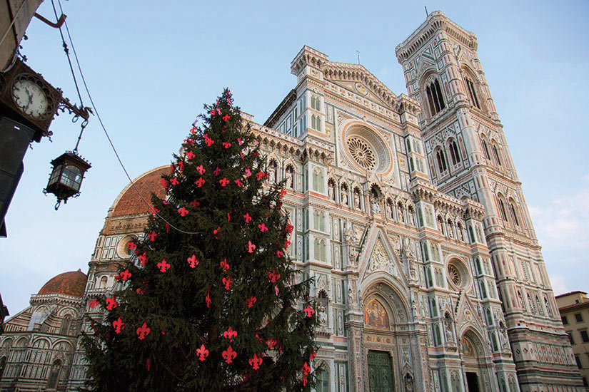 image Italie Florence Toscane cathedral et arbre de Noel  fo