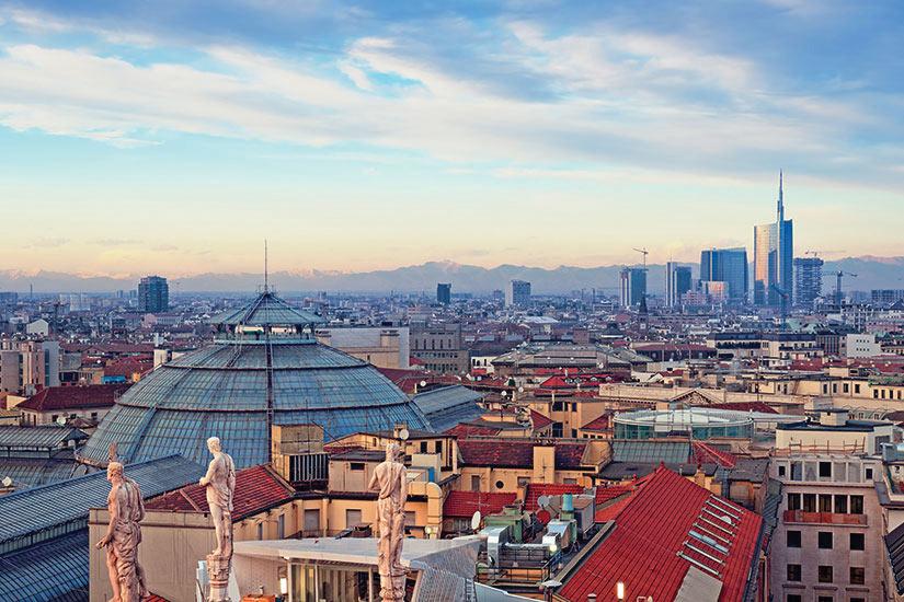 image Italie Milan vue aerienne  fo