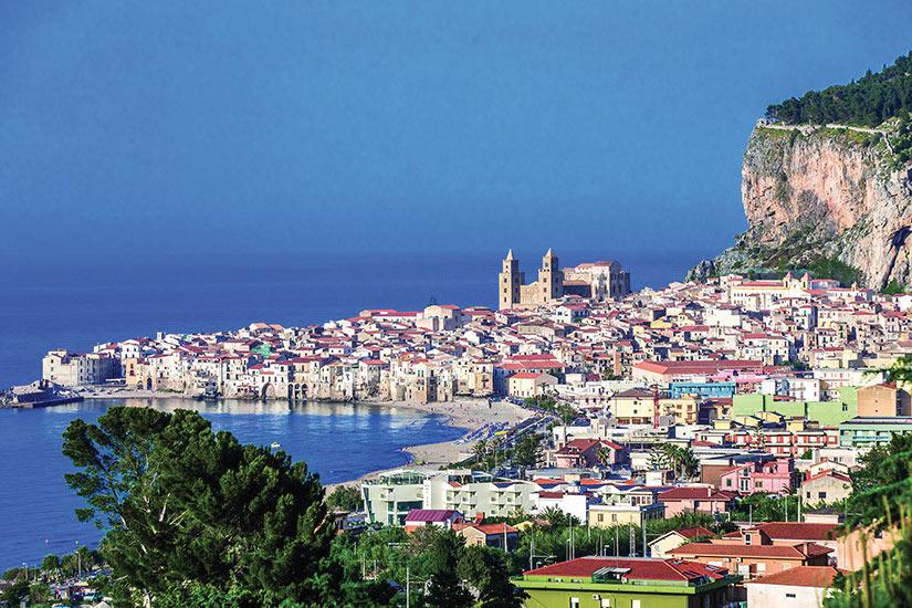 image Italie Sicile Cefalu Panorama  fo