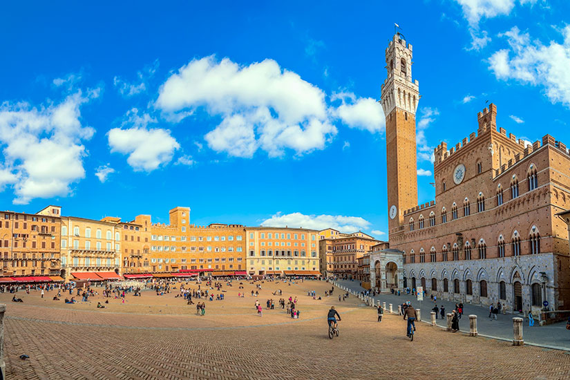 image Italie Sienne Campo place Mangia Tower  fo