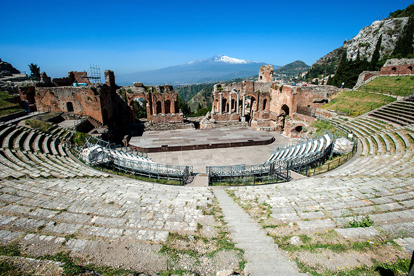 image Italie Taormine Etna Theatre  it