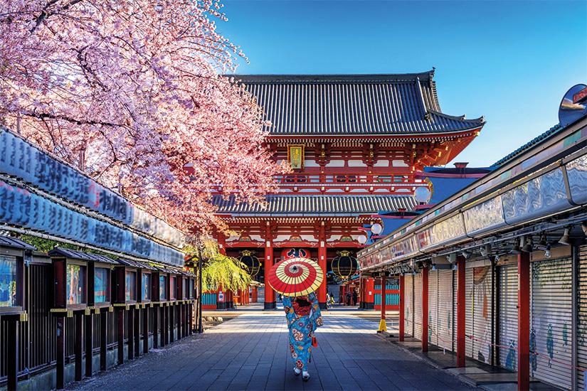 image Japon Tokyo femme portant un kimono traditionnel japonais au Temple 26 as_268173642