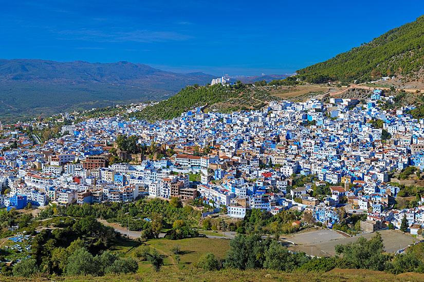 image Maroc Chefchaouen panorama  fo