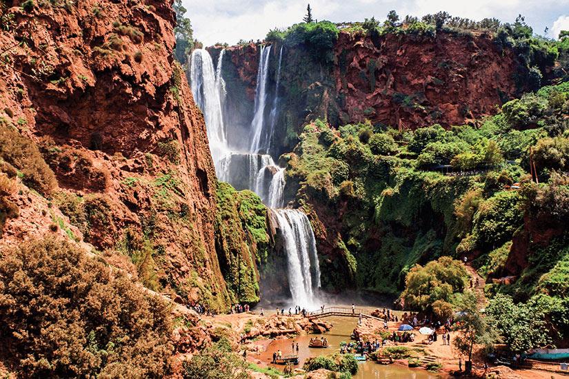 image Maroc Marrakech Ouzoud cascade  fo