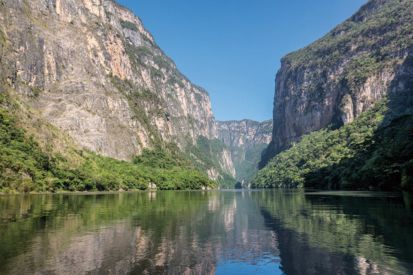 image Mexique Canyon du Sumidero jungle eau  fo