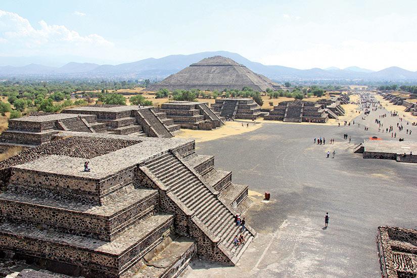 image Mexique Teotihuacan aztec mayan pyramide  fo