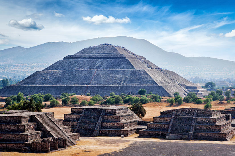image Mexique Teotihuacan pyramides  it