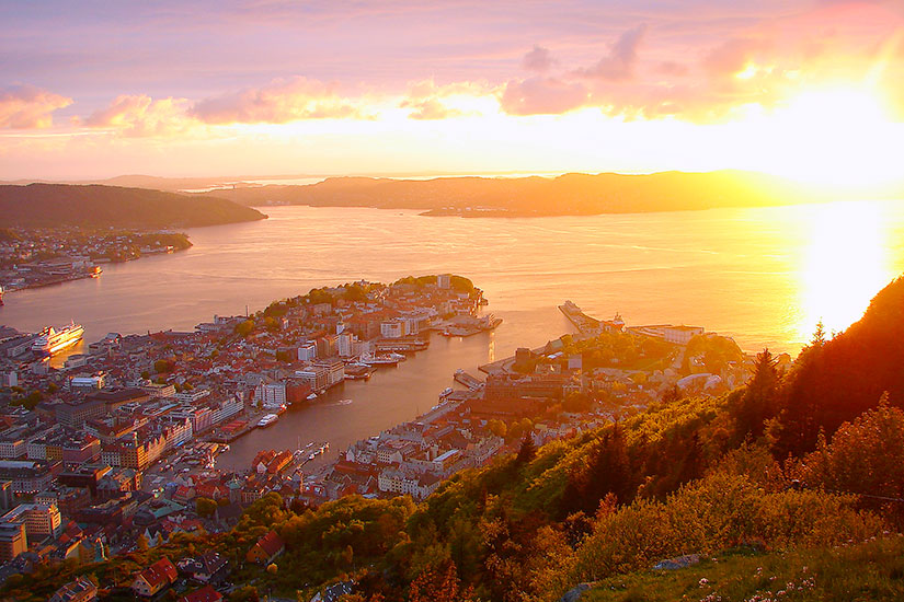 image Norvege Bergen fjords  it