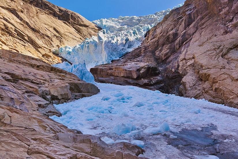 image Norvege Briksdal glacier  it