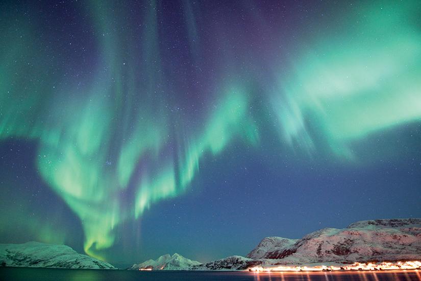 image Norvege aurore boreale
