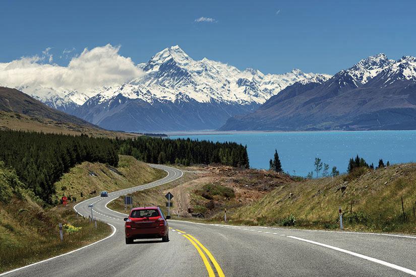 image Nouvelle Zelande Montagne Cook route voiture  fo