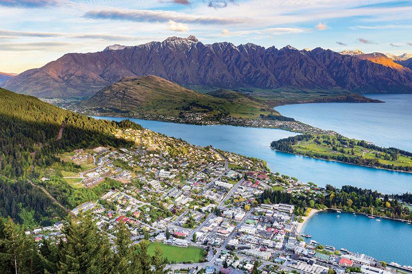 image Nouvelle Zelande Queenstown vue aerienne  it