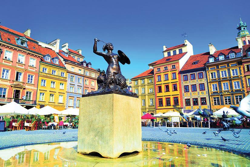 image Pologne Varsovie Statue de la sirene  it