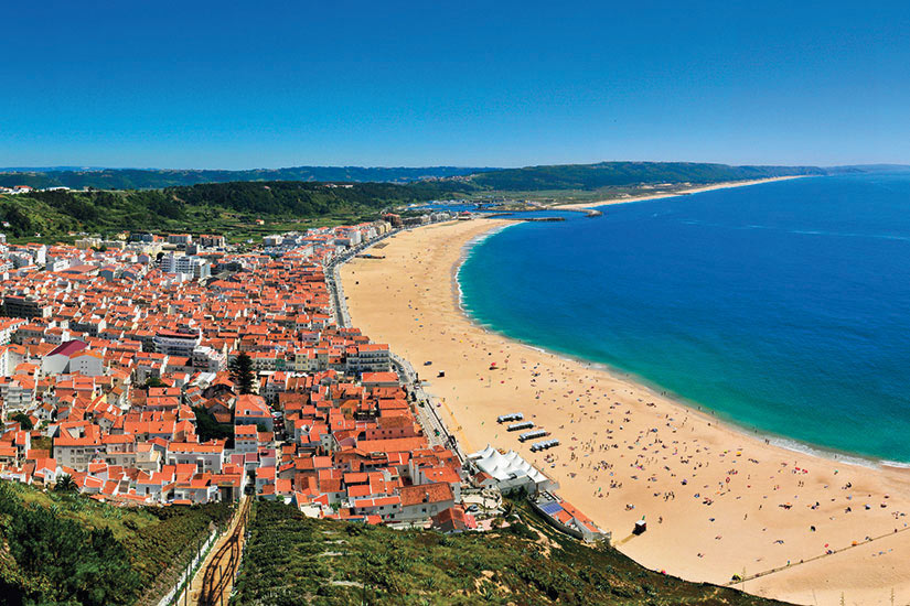image Portugal Nazare Panorama plage  it